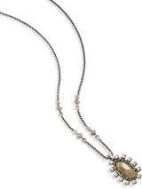 Image of Kendra Scott Brett Pendant Necklace In Pyrite View 2