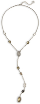 Image of Kendra Scott Liesl Y Necklace In Antique Silver View 2