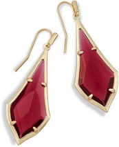 Image of Kendra Scott Olivia Drop Earrings In Berry Glass View 1