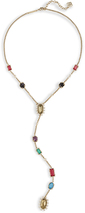 Image of Kendra Scott Liesl Y Necklace In Brass View 2