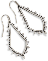 Image of Kendra Scott Pax Drop Earrings In Antique Silver View 1