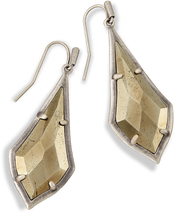 Image of Kendra Scott Olivia Drop Earrings In Pyrite View 1