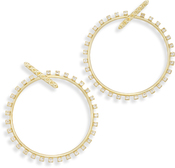 Image of Kendra Scott Charlie Grace Hoop Earrings In Gold View 2