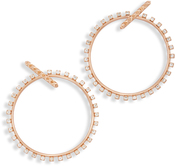 Image of Kendra Scott Charlie Grace Hoop Earrings In Rose Gold View 2