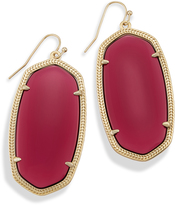 Image of Kendra Scott Danielle Statement Earrings In Berry Glass View 1