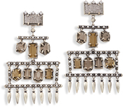 Image of Kendra Scott Emmylou Statement Earrings In Antique Silver View 2