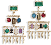 Image of Kendra Scott Emmylou Statement Earrings In Brass View 2