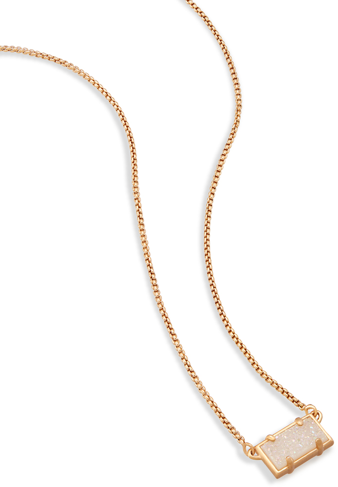 Kendra scott pattie rose gold pendant necklace in iridescent drusy image of kendra scott pattie rose gold pendant necklace in iridescent drusy view 1 aloadofball Choice Image