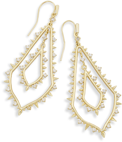 Image of Kendra Scott Alice Statement Earrings In Gold View 1