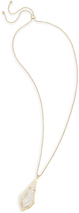 Image of Kendra Scott Damon Long Pendant Necklace In Rock Crystal View 1