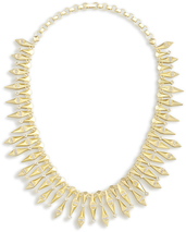 Image of Kendra Scott Cici Statement Necklace In Gold View 2