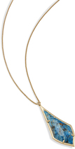 Image of Kendra Scott Damon Long Pendant Necklace In Aqua Apatite View 2