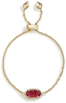 Image of Kendra Scott Elaina Adjustable Chain Bracelet In Berry Glass View 2