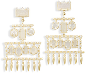 Image of Kendra Scott Emmylou Statement Earrings In Gold View 2