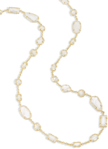 Image of Kendra Scott Joann Long Necklace In Gold View 2