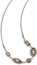 Image of Kendra Scott June Long Necklace In Antique Silver View 2