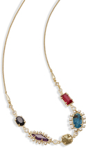 Image of Kendra Scott June Long Necklace In Brass View 1
