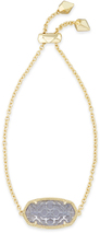 Image of Kendra Scott Daisy Adjustable Chain Bracelet In Iolite Glass View 1