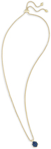 Image of Kendra Scott Teo Long Pendant Necklace In Blue Drusy View 2