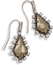 Image of Kendra Scott Juniper Drop Earrings In Pyrite View 1