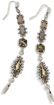 Image of Kendra Scott Leandra Shoulder Duster Earrings In Antique Silver View 1