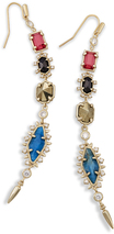 Image of Kendra Scott Leandra Shoulder Duster Earrings In Brass View 1