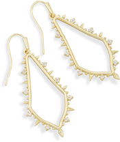 Image of Kendra Scott Pax Drop Earrings In Gold View 1