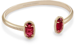 Image of Kendra Scott Elton Pinch Bracelet In Berry Glass View 1