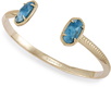 Image of Kendra Scott Elton Pinch Bracelet In Aqua Apatite View 1