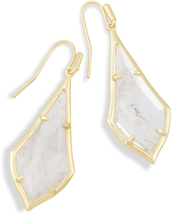 Image of Kendra Scott Olivia Drop Earrings In Rock Crystal View 1