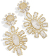 Image of Kendra Scott Glenda Statement Earrings In Rock Crystal View 2