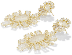 Kendra scott glenda earring gold wht cz clear rock crystal a 02 4217715502