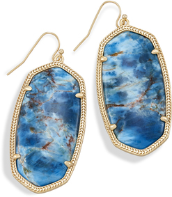 Image of Kendra Scott Danielle Statement Earrings In Aqua Apatite View 1