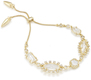 Image of Kendra Scott Alicia Adjustable Chain Bracelet In Gold View 1