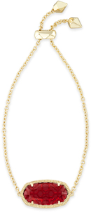 Image of Kendra Scott Daisy Adjustable Chain Bracelet In Berry Glass View 1