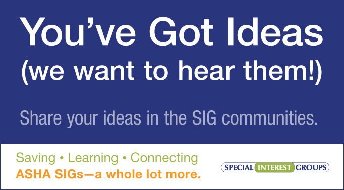 Share Your Ideas!