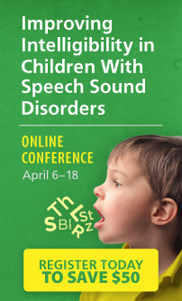 Improving Intelligibility in Children with Speech Sound Disorders