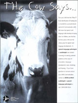 The Cow Says-Early Intervention Poster