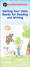 Getting Your Child Ready for Reading and Writing Brochure