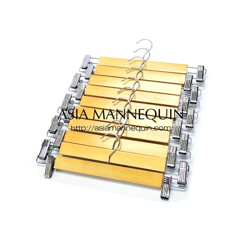 buy hcp007 wooden clip hanger for pants amp skirts 10 pcs