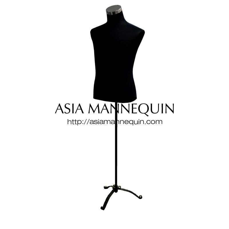 buy tmm001bt male torso mannequin black tripod asia