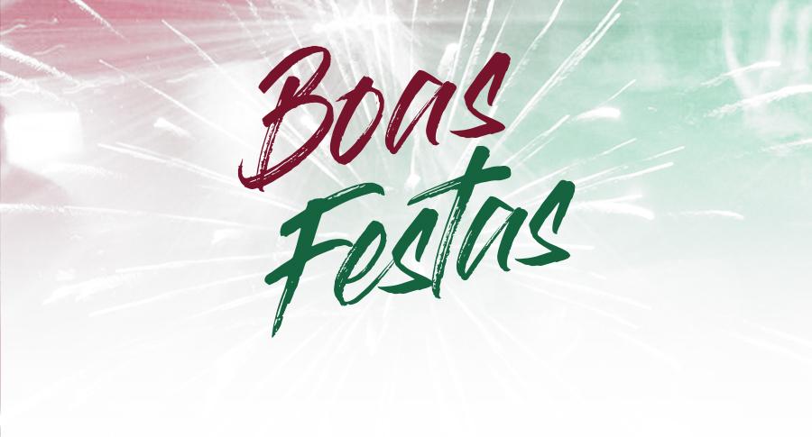 Banner boas festas banner