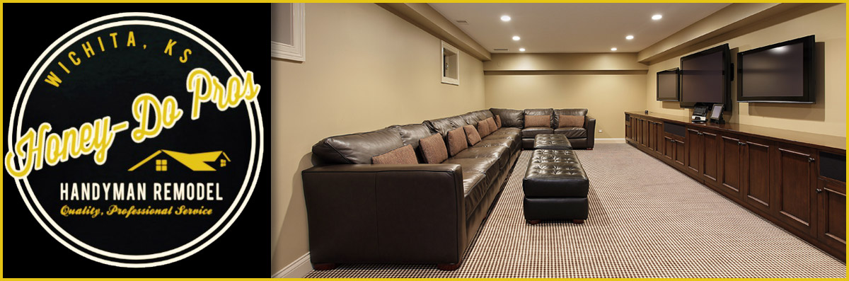 HoneyDo Pros Offers Basement Remodeling In Wichita KS New Basement Remodeling Service
