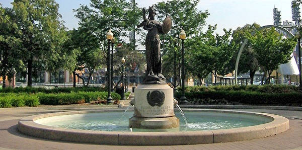 Russell alger memorial fountain
