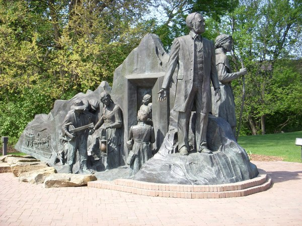 Underground railroad sculpture
