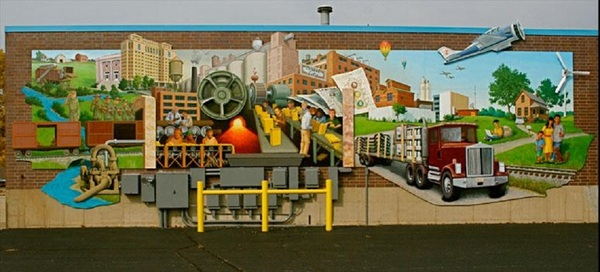 Battle creek industrial history mural