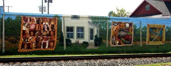 Bangor quilt mural