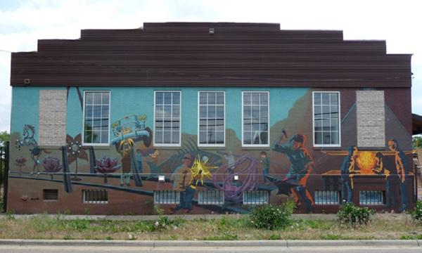 Smart shop mural