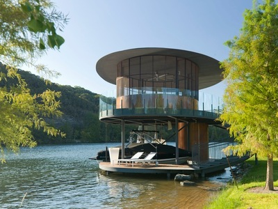 Shore Vista Boat Dock Bercy Chen Studio Architecture Construction - Awesome floating house shore vista boat dock by bercy chen studio