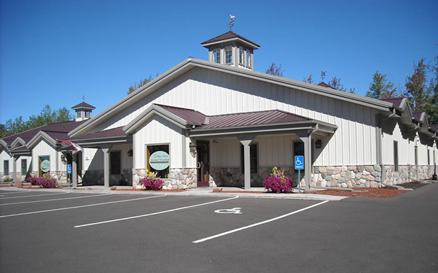 The outside of our veterinary hospital in Ashland, WI